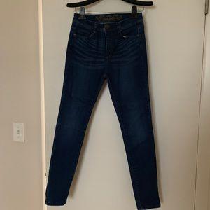 Fashion nova dark wash skinny wax Jean